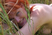 James Magnum Cook - Tracey hiding in the grass