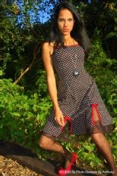 Kristin Michelle Krute - black dress with dots #8