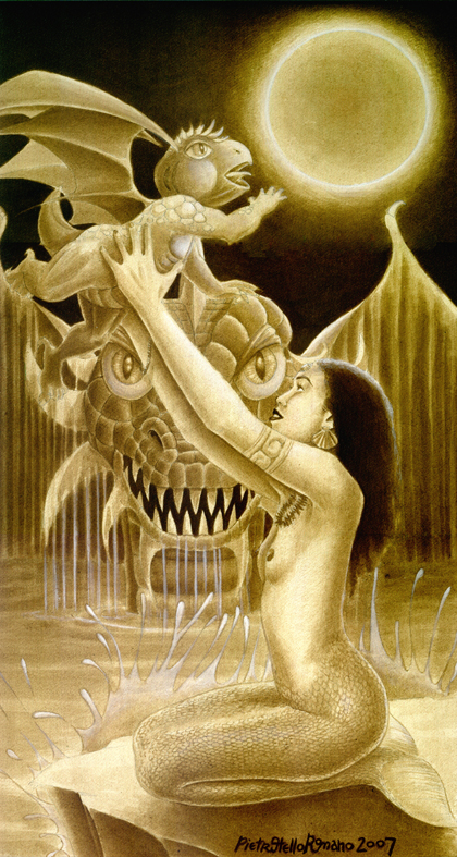Pietro Otello Romano -  the Sea queen of the Dragons