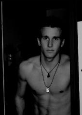 Tyler Knott - Tyler in Doorway Black & White