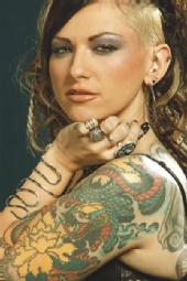 Faith Evangeline - Adorned in metal.