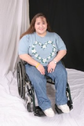 Miss Christie - Christie in her wheelchair