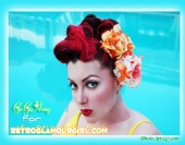 go-go Amy - Retro Glamour Girl Hair Flowers