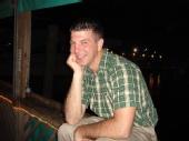 Josh - sitting on the dock