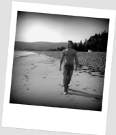 Philip James - Walking along the beach