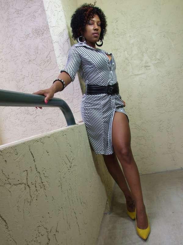 Celebrity Nenah Ross - Stripes