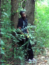 stephan hyppolite - pondering in the forest