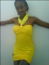 Gabana - yellow sunlight halter top