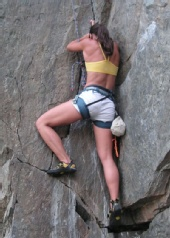 Allison Brown - Rockclimbing