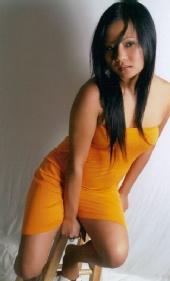 Precious2682 - orange dress