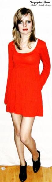 Arielle - Orange-red dress