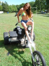 boo - Kylee on a Rat Bike