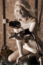 Alisha Olson - biker babe
