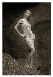 Leanne - Striped dress
