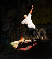 Backstreet Photography - Skateboarding ~ natural beam of light