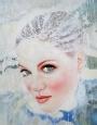 Brazilian Artist - The Eyes... - Oil on Canvas - 30 x 24 in