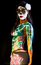 Jacqueline Evette - Day of The Dead photo shoot